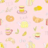 Tea pattern royalty free illustration
