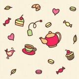 Tea pattern Stock Photo