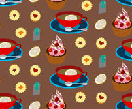 Tea pattern Stock Images