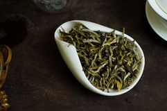 Tea chinese pile in cup. Chinese tea pile in a cup closeup Stock Image