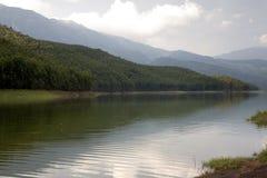 Tea Plantation Lake. Tea plantation and lake in Munnar, Kerala, India Royalty Free Stock Images