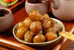 Tea plum Royalty Free Stock Image