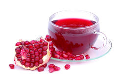 Tea pomegranate Royalty Free Stock Photo