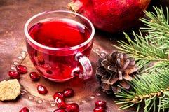 Tea with pomegranate stock photos