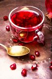 Tea with pomegranate stock photography