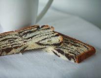 Tea with poppy cake Royalty Free Stock Photography
