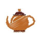 Tea porcelain jug. Icon vector illustration graphic design Stock Photos