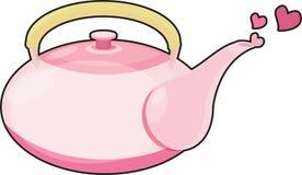 Tea pot. Illustration of tea pot on white Royalty Free Stock Image