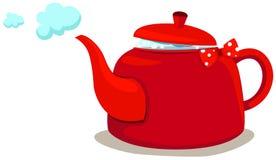 Tea pot. Illustration of isolated colorful coffee pot or tea pot on white Stock Photo