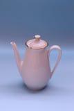 Tea pot. Elegant white gold Kettle tea pot Stock Image