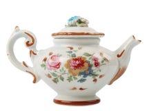 Tea pot. Ceramic tea pot isolated on white background stock image