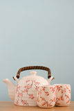 Tea pot background Royalty Free Stock Image