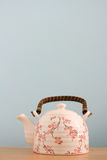 Tea pot background Stock Photos