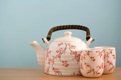 Tea pot background Stock Images