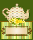 Tea pot with beautiful flowers Royalty Free Stock Photo