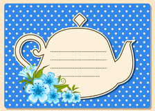 Tea pot with beautiful flowers Stock Images