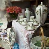 Tea-pot and caps Stock Image