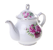 Tea pot, ceramic teapot on background. Royalty Free Stock Photo