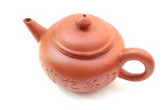 Tea pot. The clay tea pot, yixing, is isolated on wihte background Royalty Free Stock Image