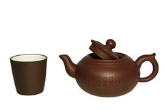 Tea pot and cup Stock Photography