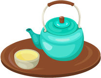 Tea pot with cup Stock Photo