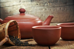 Tea pot and cups Royalty Free Stock Photo