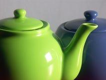 Tea-pot e açúcar-bacia Imagens de Stock