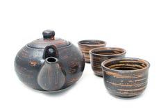 Tea-pot e vidros Imagens de Stock Royalty Free