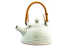 Tea pot. On isolate white background stock photos