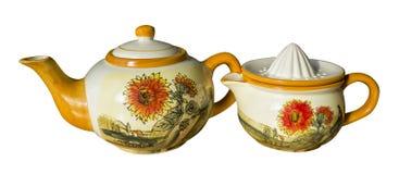 Tea pot and juice maker Royalty Free Stock Image