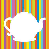 Tea pot menu funny background. In bright colors Stock Images
