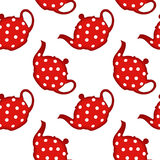 Tea pot pattern Royalty Free Stock Photography