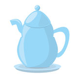 Tea pot porcelan coffee Royalty Free Stock Images