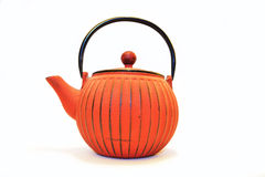 Tea Pot. A red tea pot isolated on white stock images