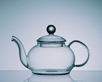 Tea Pot on Reflective Surface Stock Photos