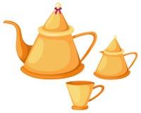 Tea pot set Royalty Free Stock Images