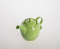 Tea pot set or Porcelain tea pot and cup on background. Royalty Free Stock Photos