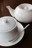 Tea pot and sugar bowl Royalty Free Stock Image