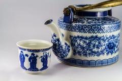 Tea pot with tea in asia. Stock Photo