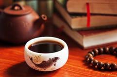 Tea pot and  teacup Stock Images