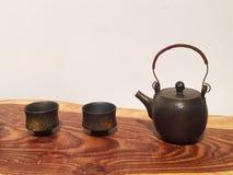 Tea-pot and teacup Royalty Free Stock Photography