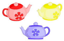 Tea Pots. A set of 3 tea pots Stock Photography