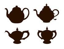 Tea Pots. Siluette tsai Royalty Free Stock Images