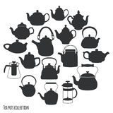 Tea pots and kettles collection Stock Image