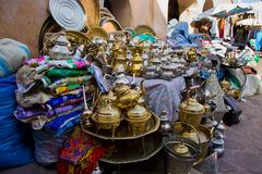 Tea pots souk Royalty Free Stock Photography