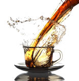 Tea is poured Royalty Free Stock Images