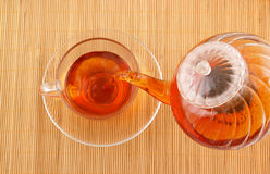 Tea pouring Royalty Free Stock Image