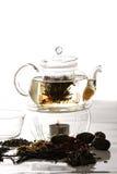 Tea preparation process Stock Photo
