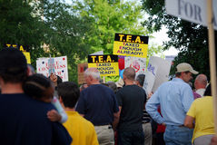 TEA Protesters Stock Photo