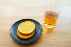 Tea and Pumpkin Cake Stock Images